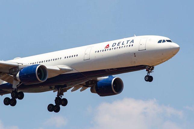 Samolot należący do linii lotniczych Delta Air Lines