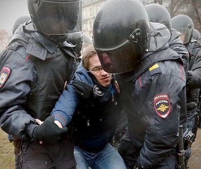 Dziesiątki zatrzymanych podczas protestu w Petersburgu