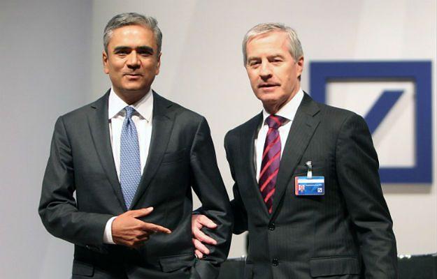 Dotychczasowi współprezesi Deutsche Banku: Juergen Fitschen (po prawej) i Anshu Jain (po lewej)