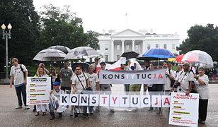 Protest Polaków przed Białym Domem poprzedził wizytę Andrzeja Dudy