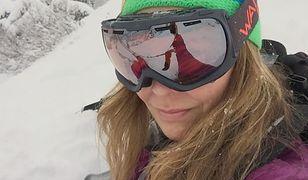 Dorota Naruszewicz spędza ferie zimowe w górach