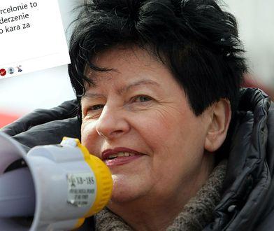 Joanna Senyszyn komentuje słowa ks. Henryka Zielińskiego.
