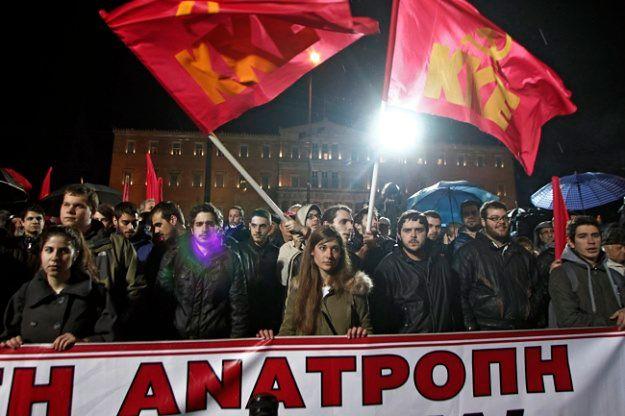 Greccy komuniści protestowali przeciwko programowi oszczędności