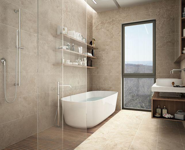 Łazienka z prysznicem bez brodzika staję się optycznie większa
