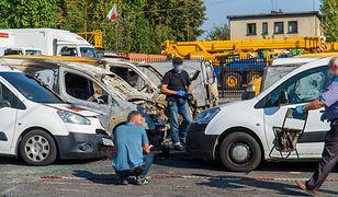Bielsko-Biała. Spłonęło 9 samochodów