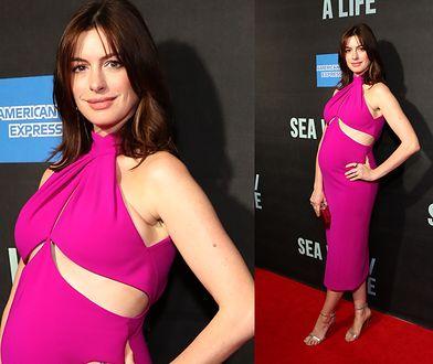 Anne Hathaway z ciążowym brzuszkiem. Jest coraz większy