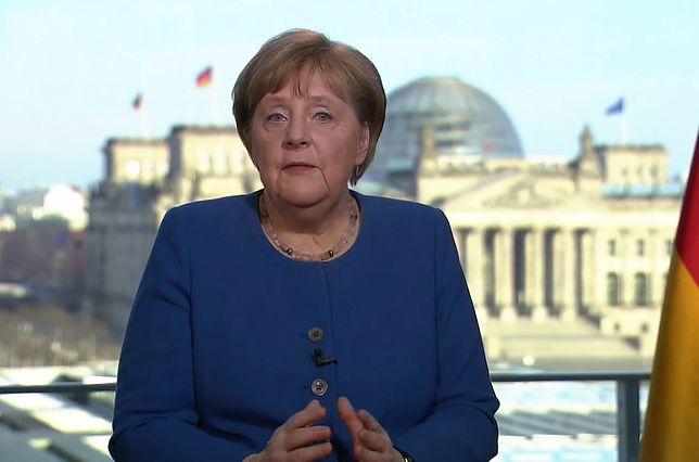 Koronawirus w Europie. Angela Merkel podczas telewizyjnego orędzia dla narodu