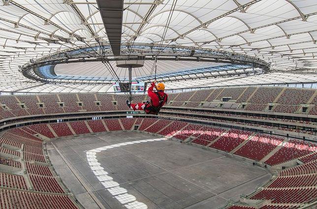 Kolej tyrolska na Stadionie Narodowym!