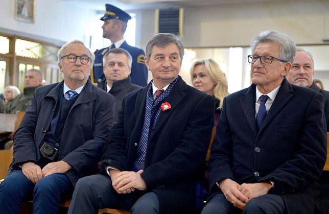 Marek Kuchciński i Stanisław Piotrowicz (po prawej)