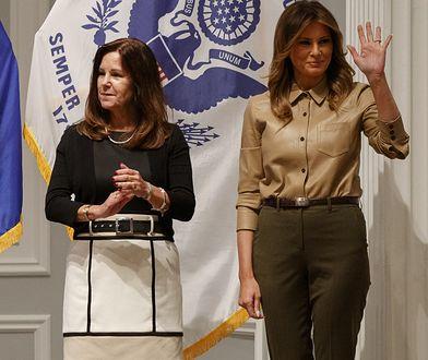 Melania Trump i Karen Pence pakowały paczki dla żołnierzy