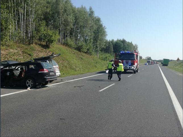 Wypadek na krajowej 16 pod Olsztynem