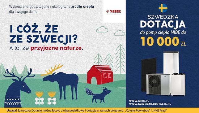 Szwedzka Dotacja do pomp ciepła NIBE do 10000 zł!