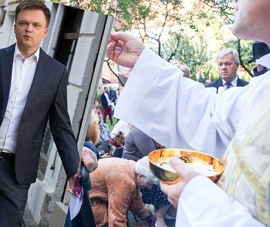 Odmówiono udzielenia komunii Szymonowi Hołowni. Ks. Daniel Wojda tłumaczy powód