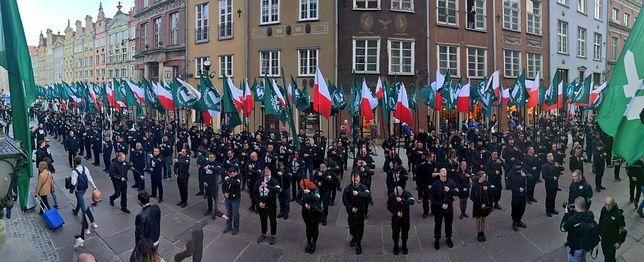 Członkowie ONR przemaszerowali ulicami Gdańska