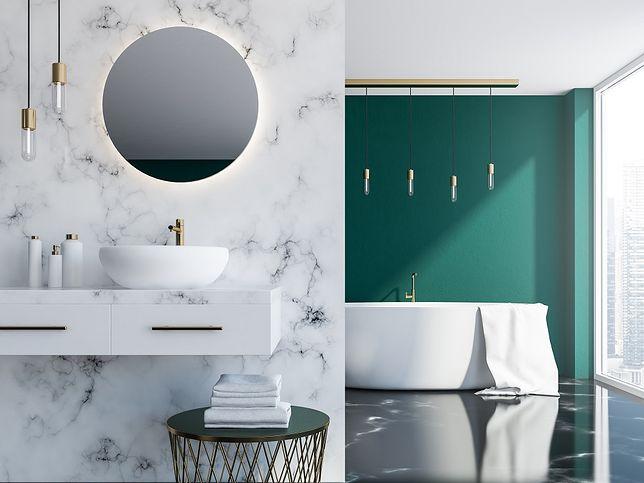 Oświetlenie do łazienki może być nietuzinkowe, ale praktyczne.