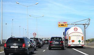 Korek na autostradzie A4.