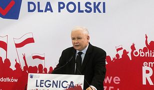 Jarosław Kaczyński przemawiał w Legnicy