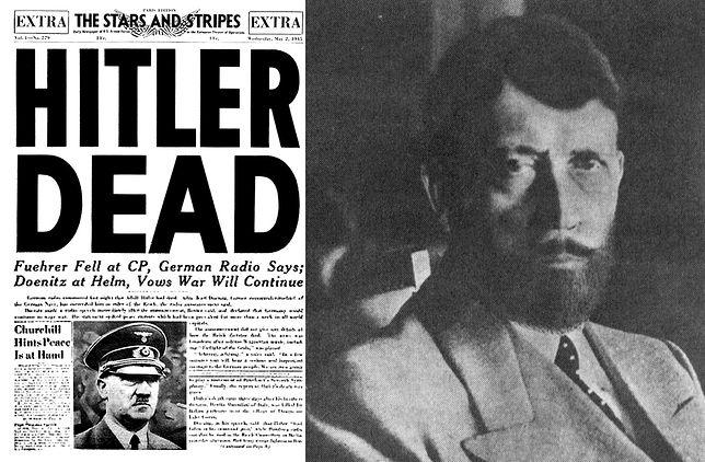 Gazeta z maja 1945 i amerykański retusz zdjęcia Hitlera. Tak miałby wyglądać, gdyby ukrywał się po wojnie