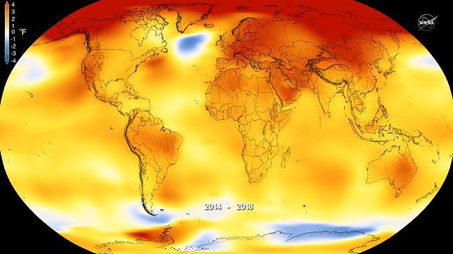Zmiany temperatur na świecie wskazują ogromne zmiany klimatyczne