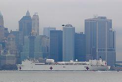 Koronawirus w USA. Gigantyczny szpital przypłynął do Nowego Jorku