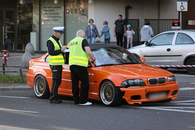 Kierowca bmw, który na ul. Sokratesa potrącił przechodnia, nie został aresztowany.