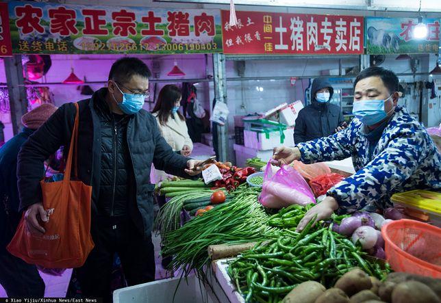 Market w Wuhan.