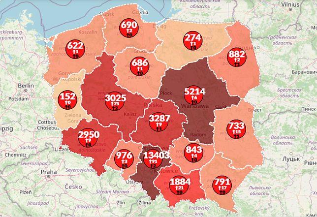Koronawirus w Polsce. Aktualna mapa zarażeń