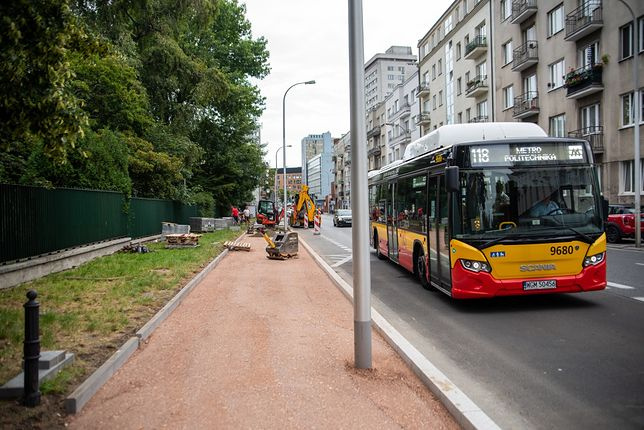 Warszawa. Remont Powiśla (fot. Zarząd Dróg Miejskich)