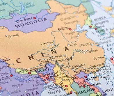 Chińska mapa świata. Polska na samym krańcu