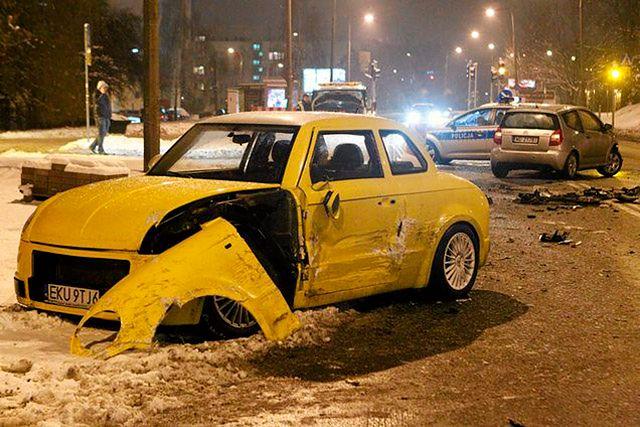 Wypadek prototypowego auta