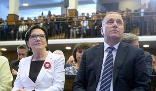 Była minister zdrowia Ewa Kopacz i lider PO Grzegorz Schetyna.
