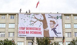 Warszawa. Protest organizacji Greenpeace w stolicy