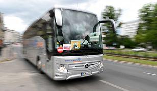Warszawa, Protest przewoźników autokarowych