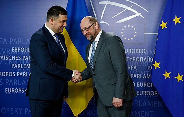Wołodymyr Hrojsman i Martin Schulz