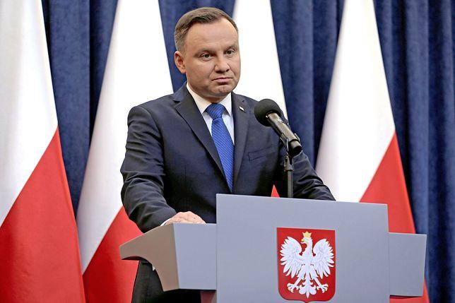 Andrzej Duda liderem sondażu dla WP