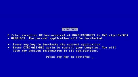 Windowsa XP przed WannaCry uchronił... niebieski ekran śmierci