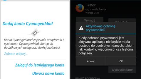 CyanogenMod 10.1.3 wydany — ochrona prywatności i opcjonalne konto CM
