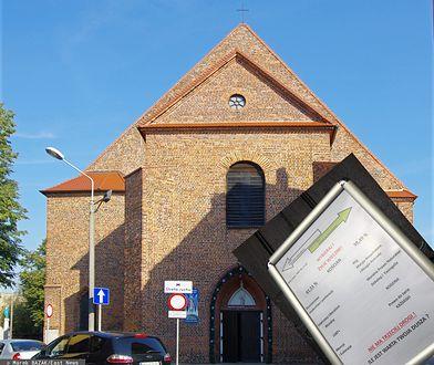 Kościan. Kontrowersyjny plakat na drzwiach kościoła