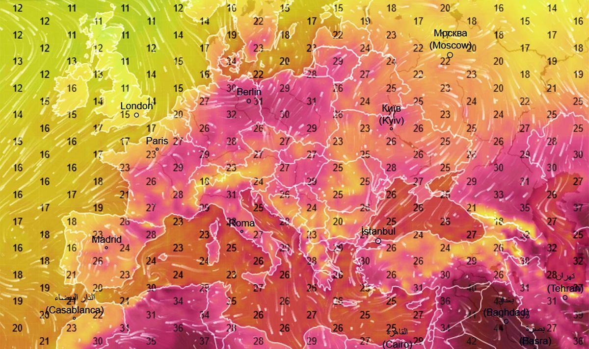Pogoda. Polska gorętsza niż Afryka. Różnica 20 st. C