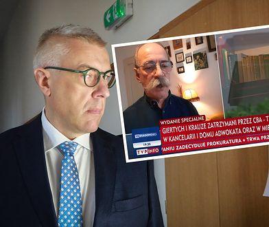 Zatrzymanie Romana Giertycha. TVP Info pokazało jego dom nawet z lotu ptaka