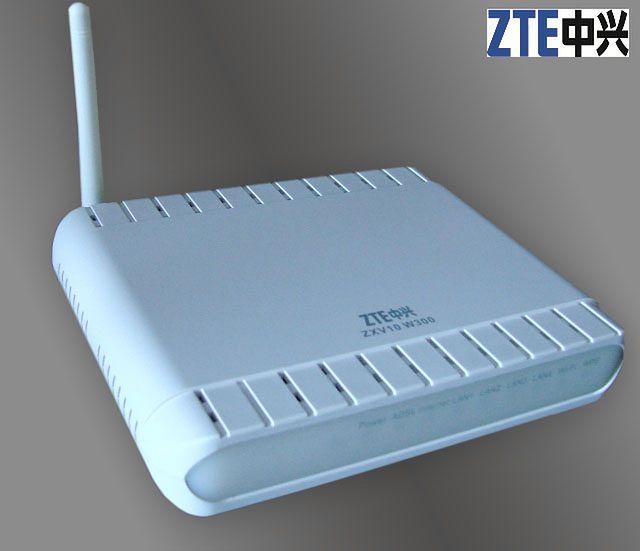 Modem ADSL funkcją routera: ZTE ZXV10 W300