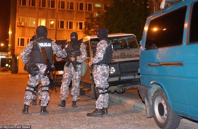 Policjanci w akcji