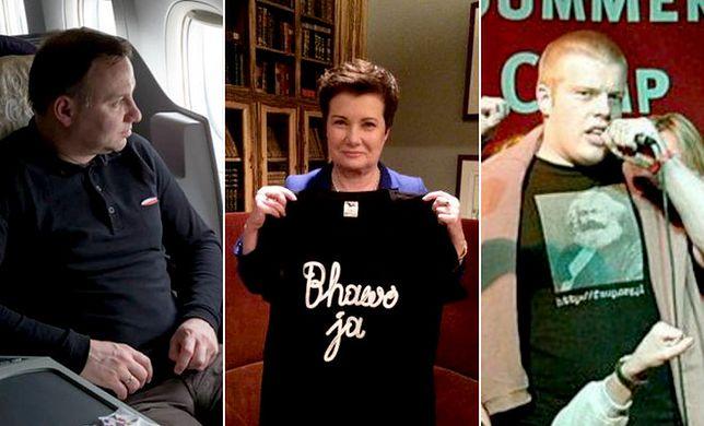 Duda, Kopacz i Zandberg, czyli co może koszulka w polskiej polityce