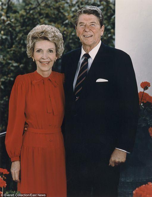 Ronald Reagan z żoną, Nancy Davis Reagan