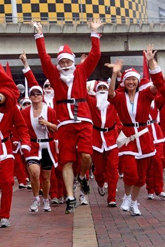 Święty Mikołaj też biega - zobacz zdjęcia