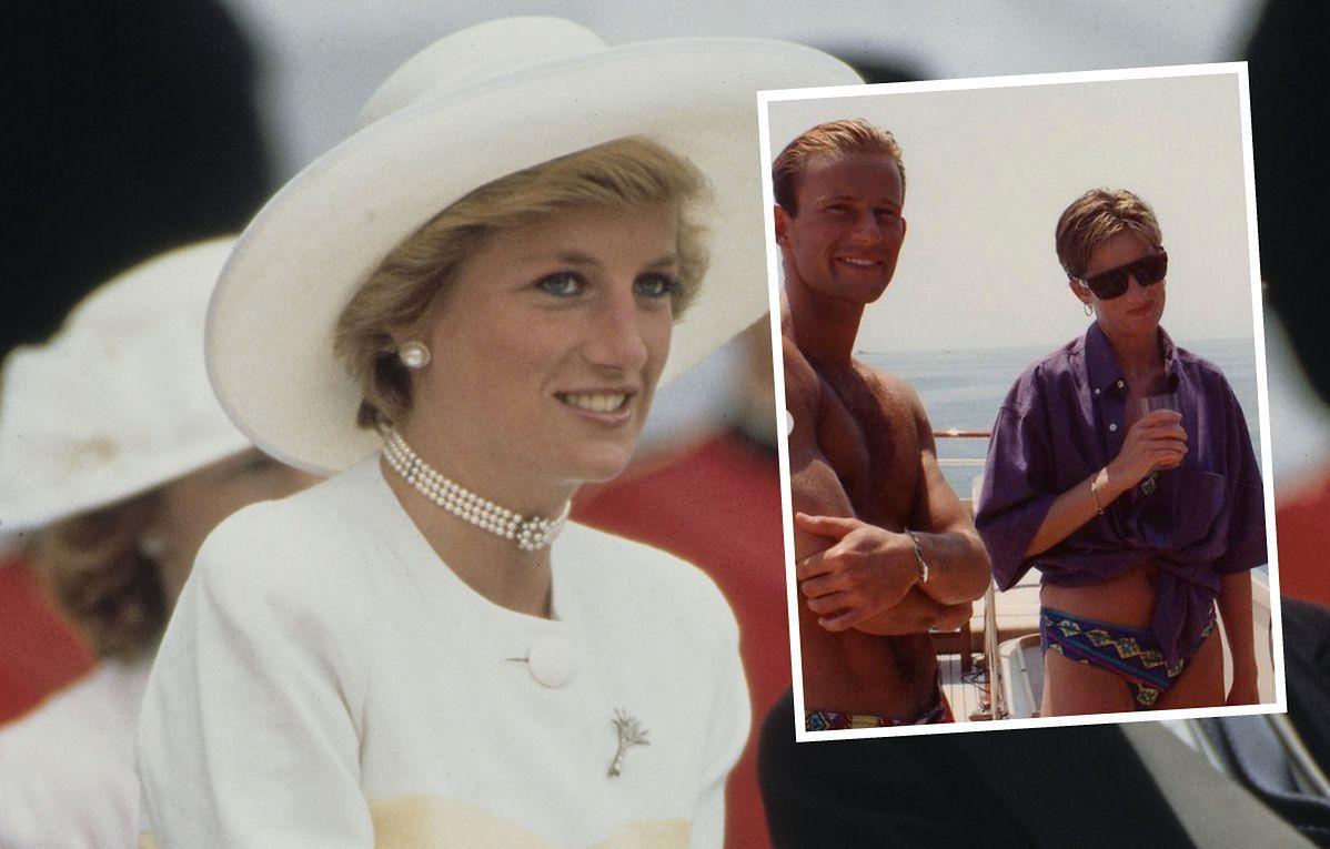 Diana w 1990 r. poleciała do Włoch i relaksowała się na jachcie