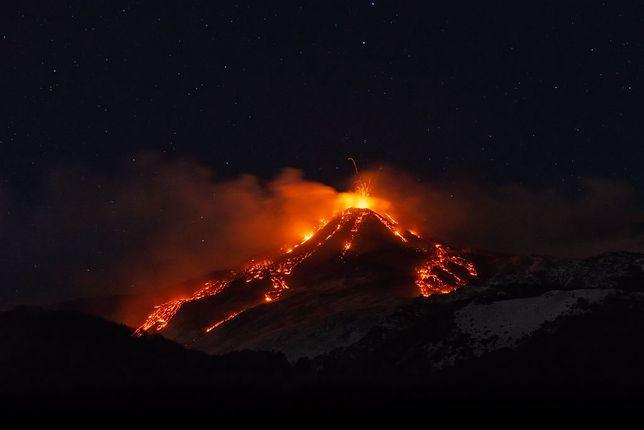 Erupcja Etny z 19 stycznia 2021 r.