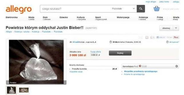 Powietrze, którym oddychał Justin Bieber