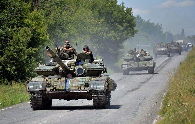 Ukraińskie czołgi w Donbasie, lato 2014.