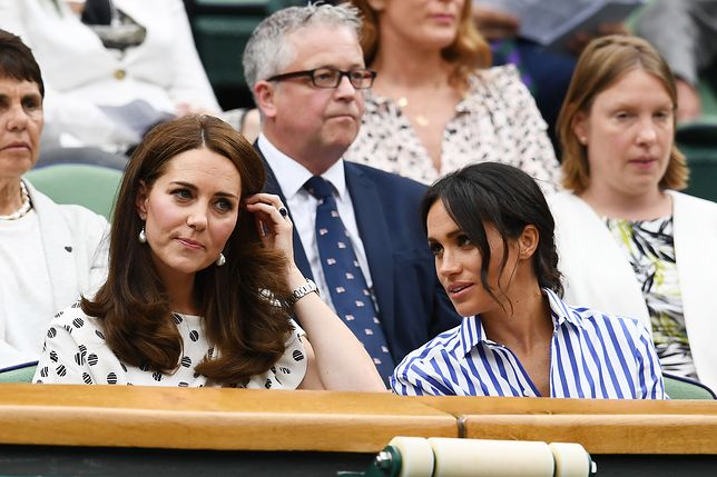 Meghan Markle i Kate Middleton na Wimbledonie